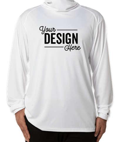 Badger Long Sleeve Performance Shirt with Gaiter - White