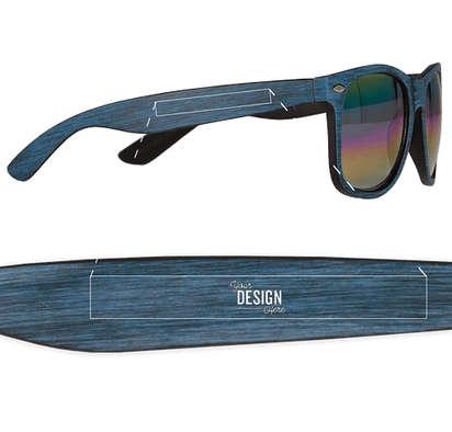 Woodtone Mirrored Malibu Sunglasses - Blue