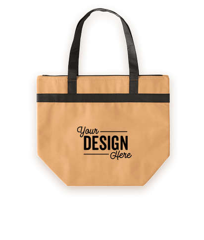 Basic Zippered Insulated Grocery Tote Bag - Natural