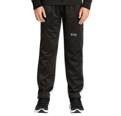 Sport-Tek Youth Tricot Tapered Warm-Up Pant - Black