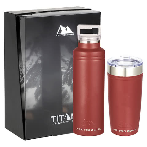 Arctic Zone 20 oz. Copper Vacuum Insulated Drinkware Gift Set