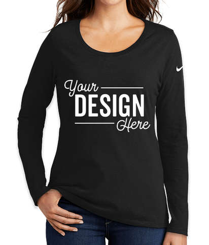 Nike Women's 100% Cotton Long Sleeve T-shirt - Black