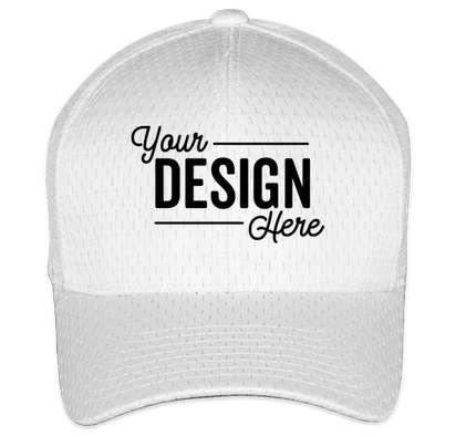 Yupoong Athletic Mesh Flexfit Hat - White