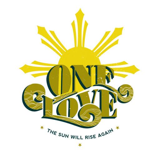 ONE LOVE(2): Philippines Typhoon Yolanda Relief shirt design - zoomed