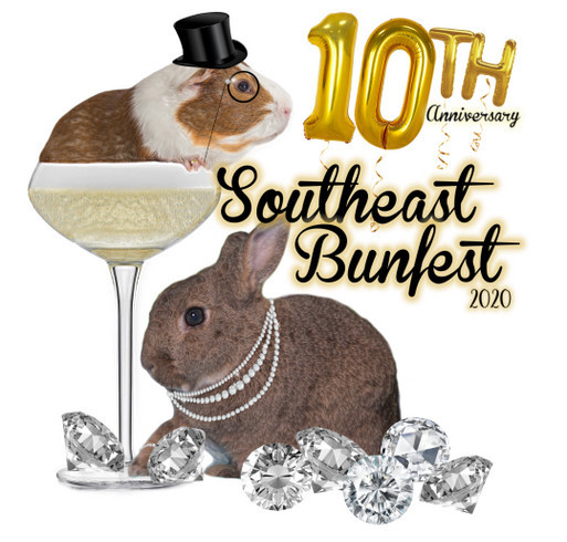 10th Anniversary Southeast Bunfest shirt design - zoomed