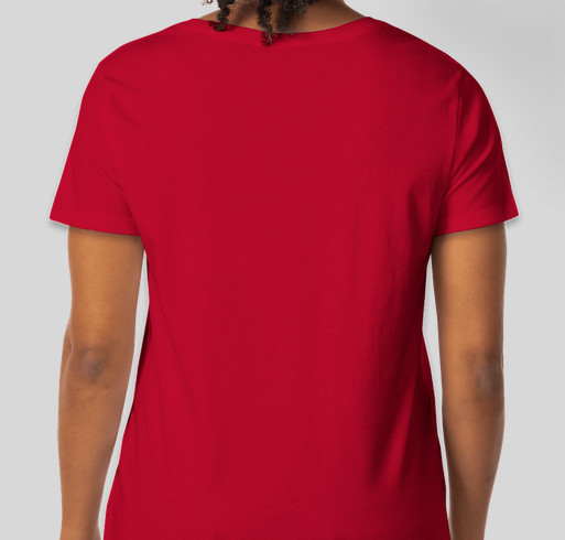 """Design 3: Word-Art """"Red Knight Pride! 60 Years Strong!"""" Fundraiser - unisex shirt design - back"""