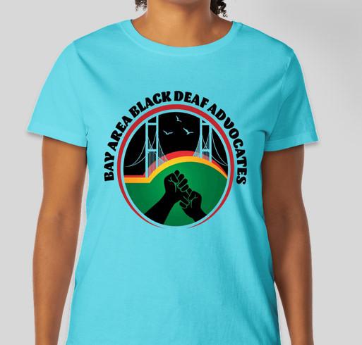 2021 Bay Area Black Deaf Advocates (BABDA) T-shirt Fundraiser Fundraiser - unisex shirt design - front