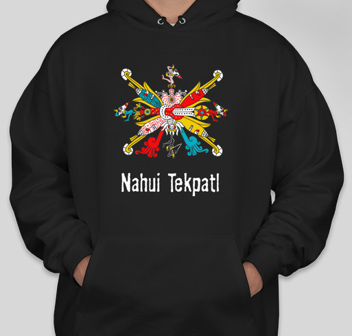Celebrate Mexica New year with a Nahui Tekpatl t-shirt. Celebra el Añ0 Nuevo Mexica con una camisa! Fundraiser - unisex shirt design - front