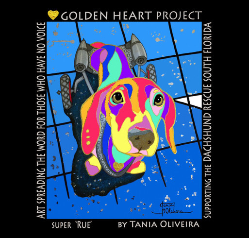 Golden Heart Project - Dachshund Rescue South Florida shirt design - zoomed
