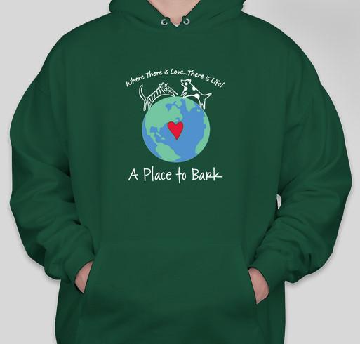 """A Place To Bark"" Fundraiser - unisex shirt design - front"