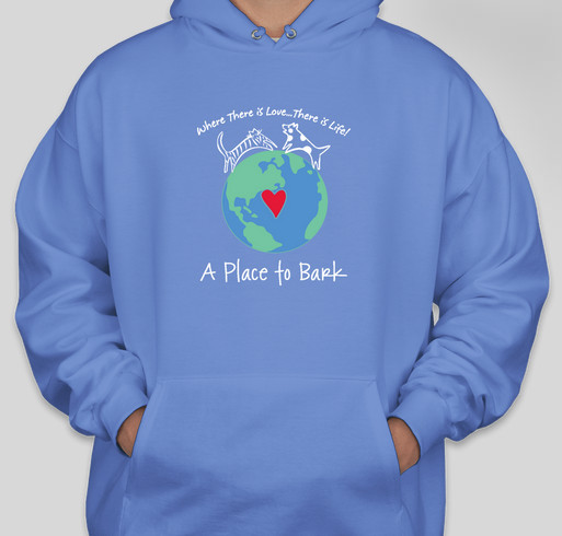 """A Place To Bark"" Fundraiser - unisex shirt design - front"