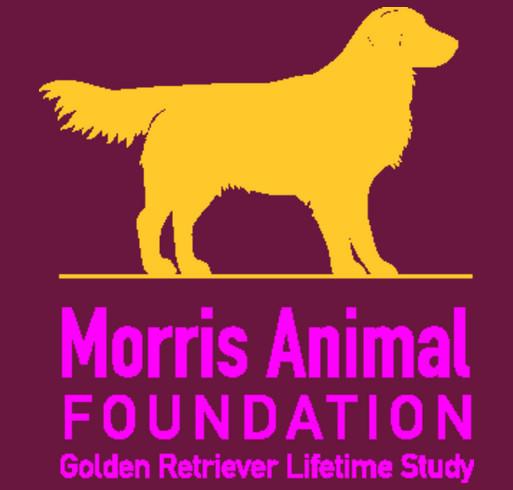 Golden Retriever Lifetime Study/Morris Animal Foundation shirt design - zoomed