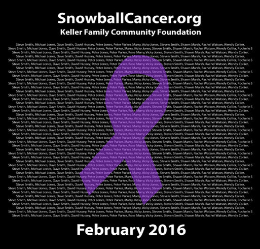 SnowballCancer.org Show your support for those battling cancer! shirt design - zoomed