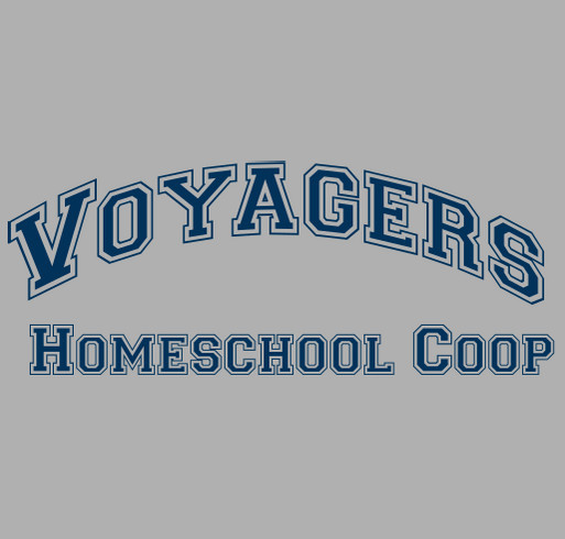 Voyagers Homeschool Cooperative shirt design - zoomed