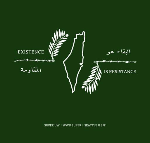 Washington State Student Fundraiser for Palestine Awareness 2021 shirt design - zoomed
