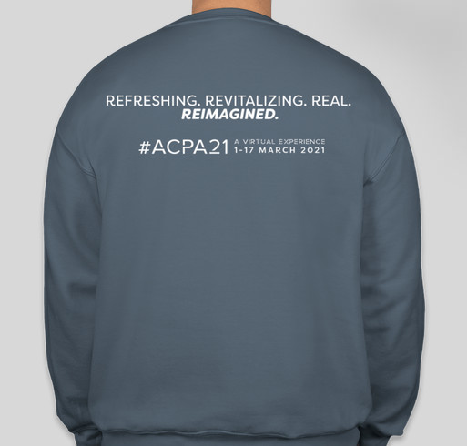 #ACPA21 Crewneck Sweatshirt Fundraiser - unisex shirt design - back