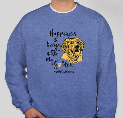 Happiness Is Being With My Golden Retriever Fundraiser - unisex shirt design - front