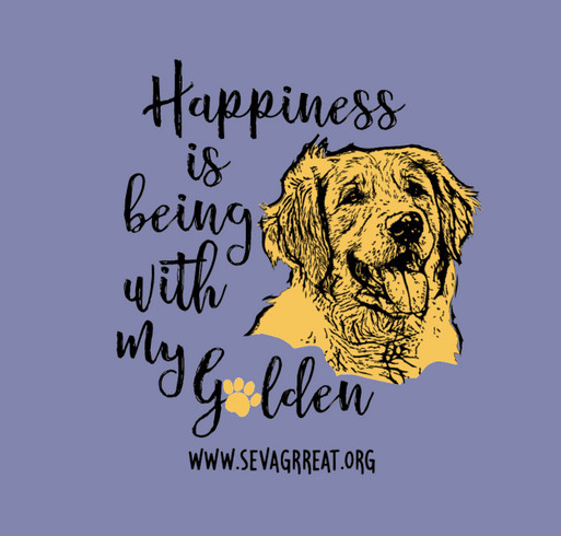 Happiness Is Being With My Golden Retriever shirt design - zoomed