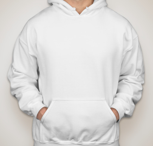 Gildan Midweight 50/50 Hooded Sweatshirt - White