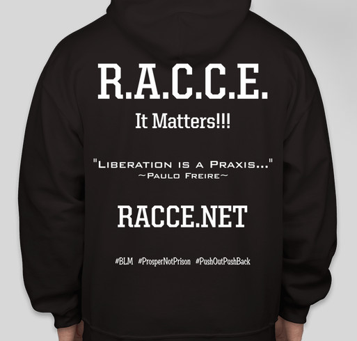 Raise Awareness with RACCE Fundraiser - unisex shirt design - back
