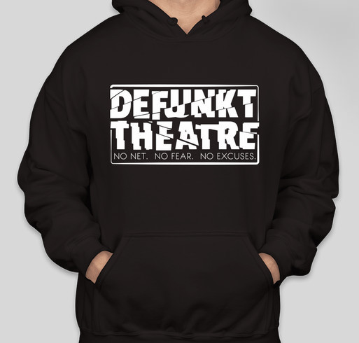 Defunkt Theatre Stocking Stuffers for your loved ones! Fundraiser - unisex shirt design - front