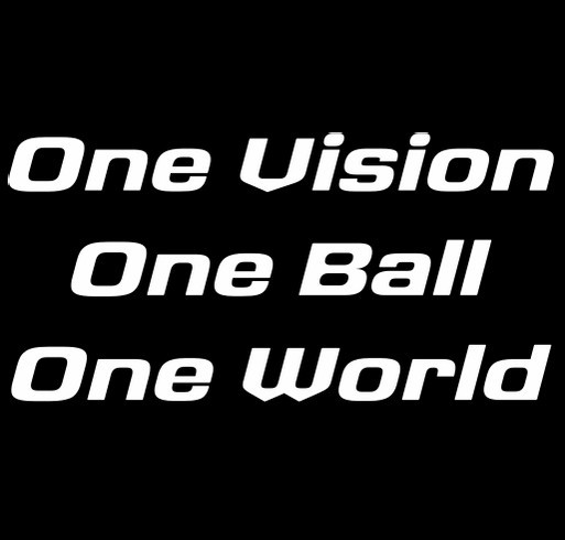 Join the Freedom FC team and help share our goal: One Vision, One Ball, One World. shirt design - zoomed