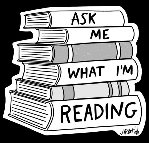 Ask Me What I'm Reading! shirt design - zoomed