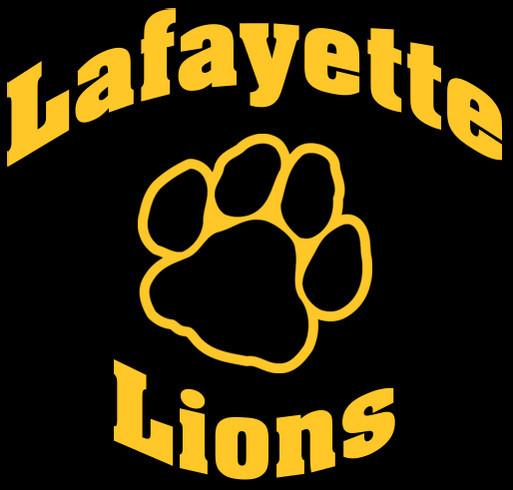 Lafayette School Spirit Wear shirt design - zoomed