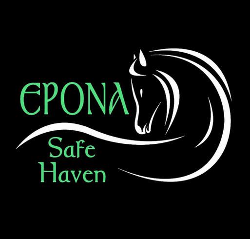 Epona Safe Haven equine rescue fundraiser shirt design - zoomed