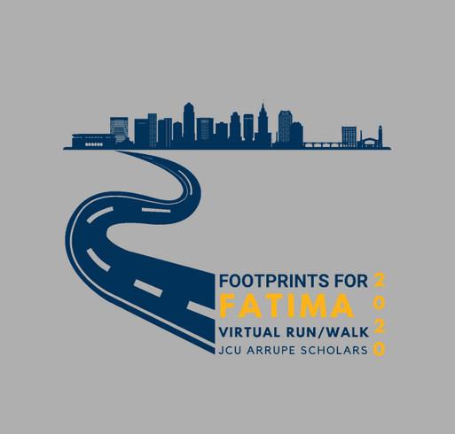 Footprints for Fatima 2020--John Carroll University shirt design - zoomed