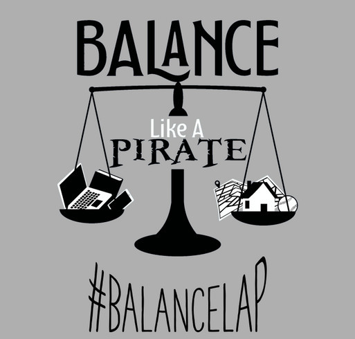 Balance Like a Pirate for Mental Health Awareness and Suicide Prevention shirt design - zoomed
