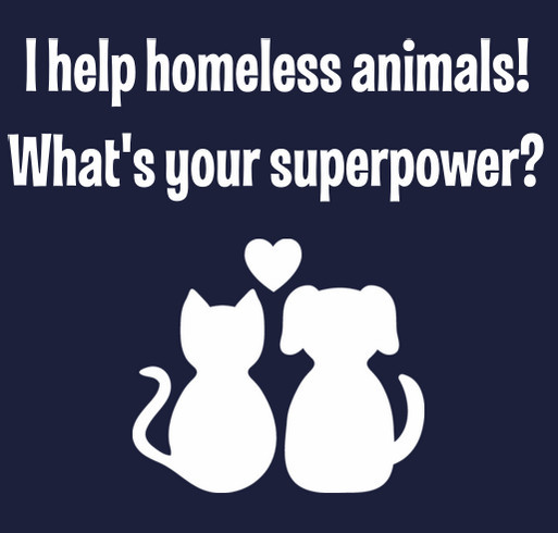 Help homeless animals today! shirt design - zoomed