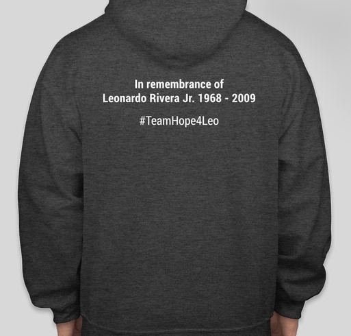 Team Hope4Leo Fundraiser - unisex shirt design - back