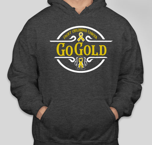 Go Gold Fight Childhood Cancer Fundraiser - unisex shirt design - front