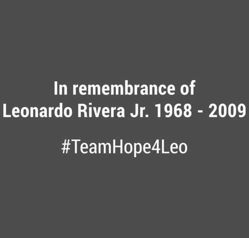 Team Hope4Leo shirt design - zoomed