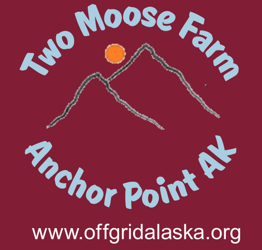 Two Moose Farm shirt design - zoomed