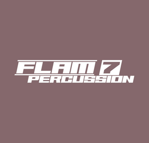 Flam 7 Percussion shirt design - zoomed