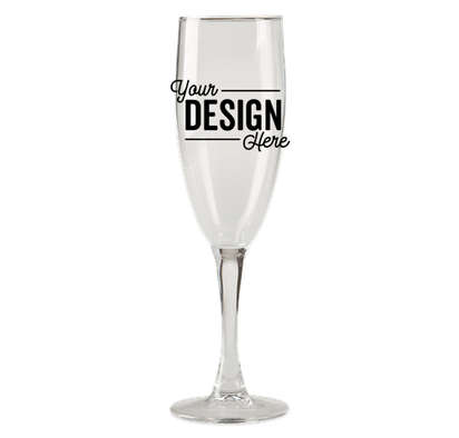 5.75 oz. Champagne Flute Glass - Clear