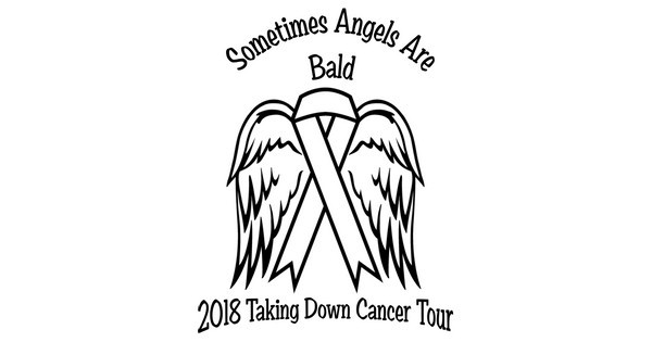 Sometimes Angels Are Bald 2018 Taking Down Cancer Tour shirt design - zoomed