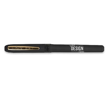 BIC Grip Roller Gold Pen (black ink) - Black