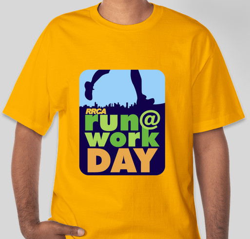 RUN@WORK DAY Shirts to Support Kids Run the Nation Fund Fundraiser - unisex shirt design - front