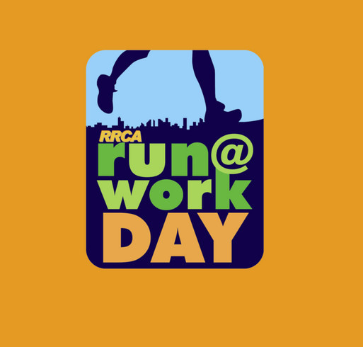 RUN@WORK DAY Shirts to Support Kids Run the Nation Fund shirt design - zoomed