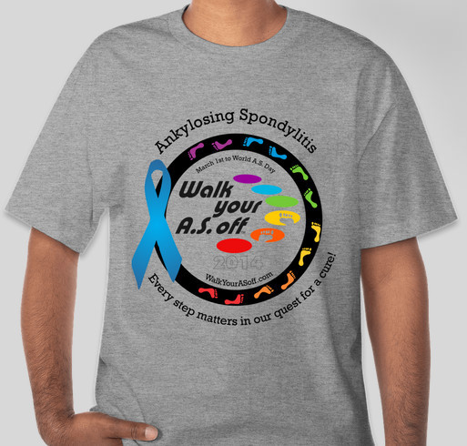 Walk Your A.S. Off 2014 - Official Booster T-Shirt Fundraiser - unisex shirt design - front