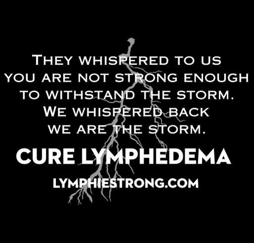 Lymphie Strong Awareness Storm shirt design - zoomed