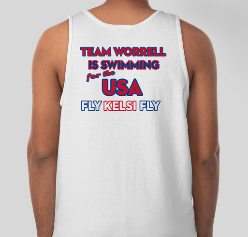 Team Worrell: Rio Bound Fundraiser - unisex shirt design - back