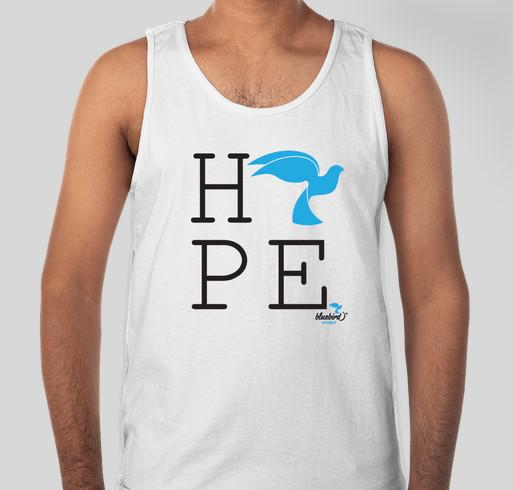 Bluebird Uncaged- Hope:2016 Fundraiser - unisex shirt design - front