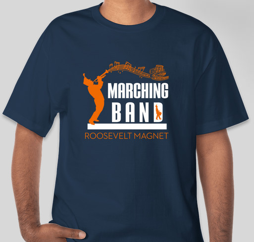 Roosevelt marching band t shirt sale fundraiser unisex for Band t shirt designs for sale