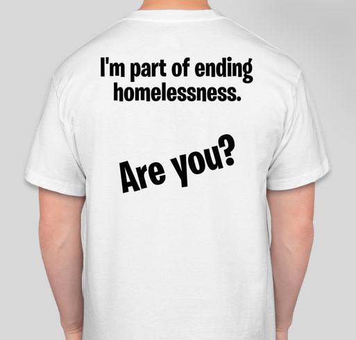 Be a part of ending homelessness Fundraiser - unisex shirt design - back