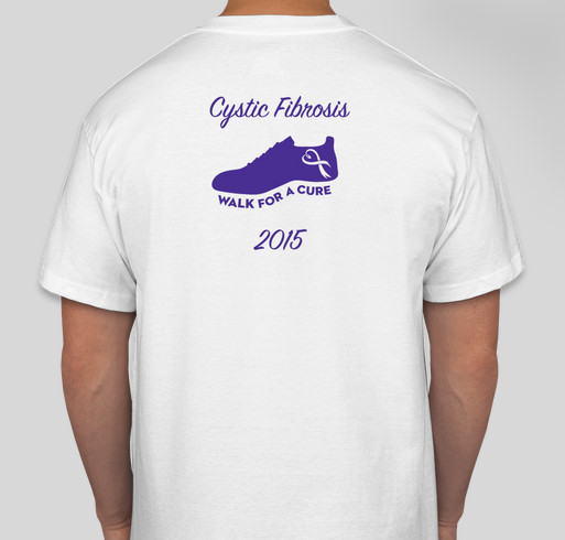 675a61fd46e7 Aubrey's Eagles Cystic Fibrosis Awareness Walk Fundraiser - unisex shirt  design - back