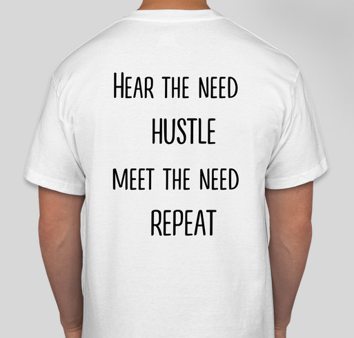 Homeless Hustle Network Swag Fundraiser Fundraiser - unisex shirt design - back
